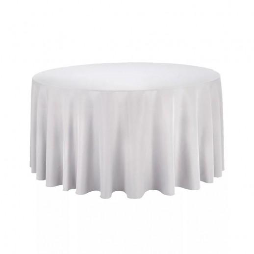 Скатерть белая, круглая, d 280 см