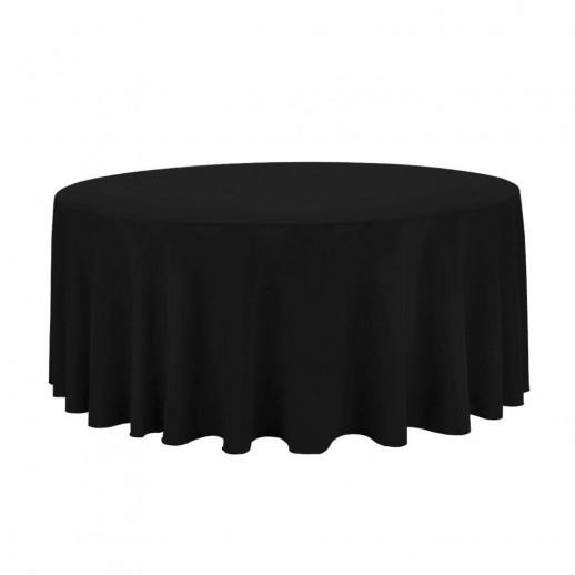 Скатерть черная, круглая, d 280 см