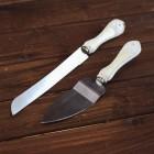 Лопатка и нож №1 белая ручка