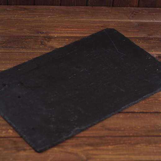 Плато черное (большое) 45х32 см