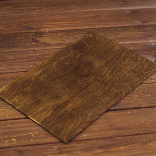 Плато деревянное (темный орех) 25х40
