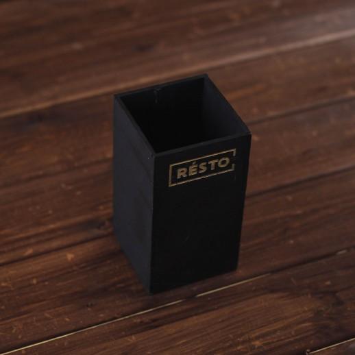 Приборница черная Resto, 8 х 8 х 15 см
