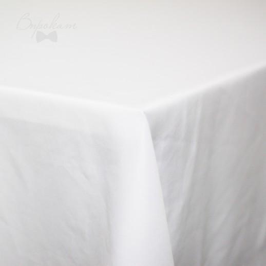 Скатерть белая, 220 х 150 см, габардин