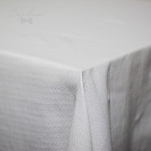 Скатерть белая, 145 х 145 см