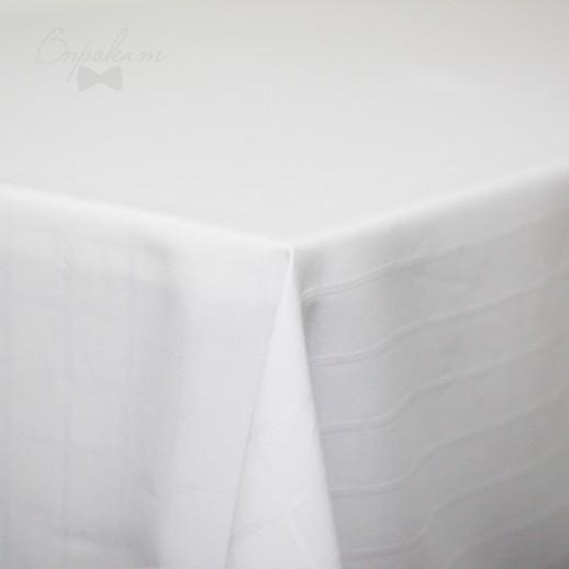 Скатерть белая в клетку, 220 х 150 см