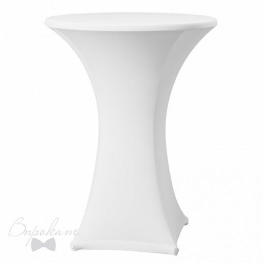 Чехол на коктейльный стол, белый стрейч