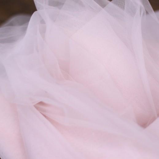 Аренда ткани фатин (розовый - пудровый), 1м