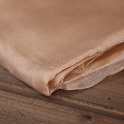 Аренда ткани органза (бежевая), 1м