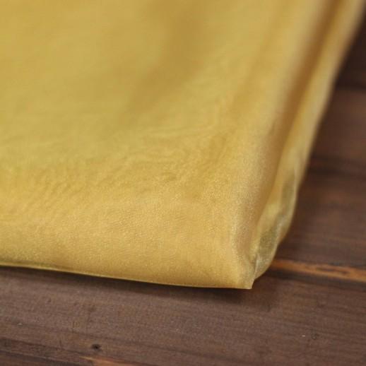 Аренда ткани органза (желтая), 1м