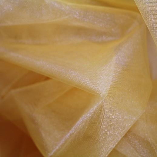 Аренда ткани фатин, (желтый), 1м