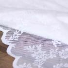 Аренда ткани кружево (белый) №3, 1м