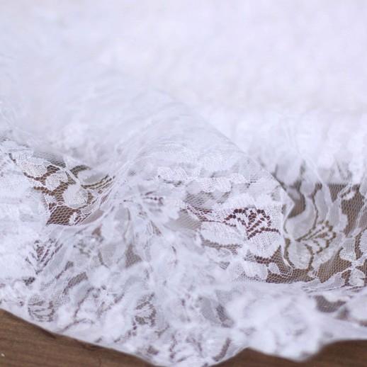 Аренда ткани кружево (белая), 1м