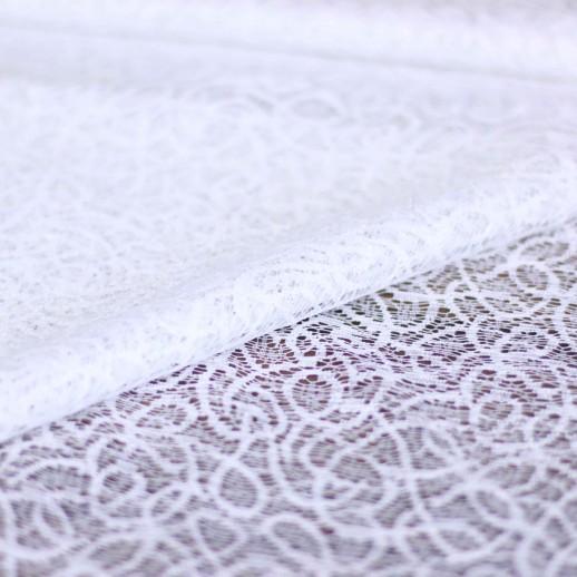 Аренда ткани кружево (белая) №2, 1м