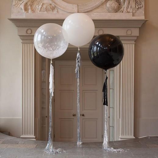 Композиция из 3х шаров с гелием, 1 м