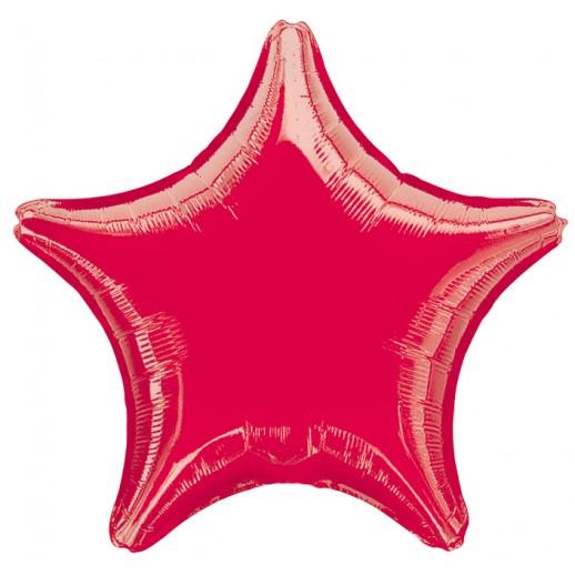 Звезда фольгированная, красная