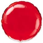 Круг фольгированный, красный