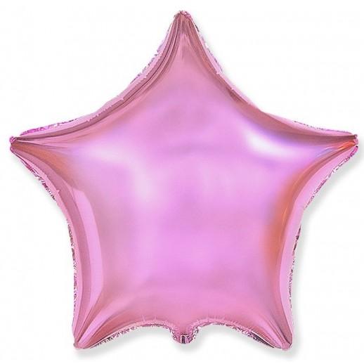 Звезда фольгированная, розовая