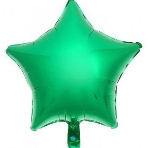 Звезда фольгированная, зеленая