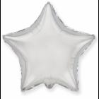 Звезда фольгированная, серебро