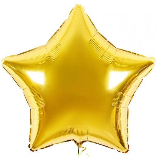 Звезда фольгированная, золото