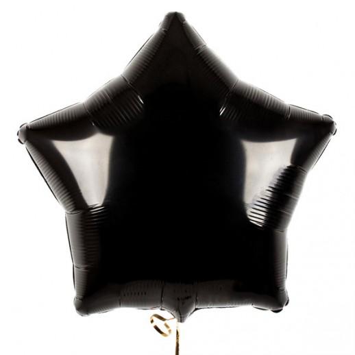 Звезда фольгированная, черная