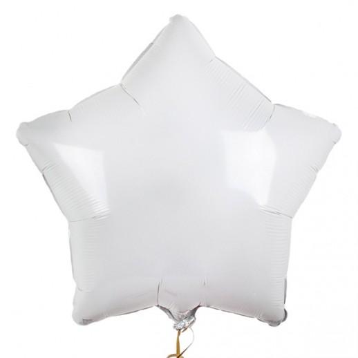 Звезда фольгированная, белая