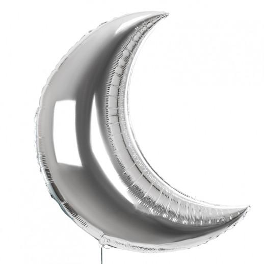 Полумесяц фольгированный, серебро
