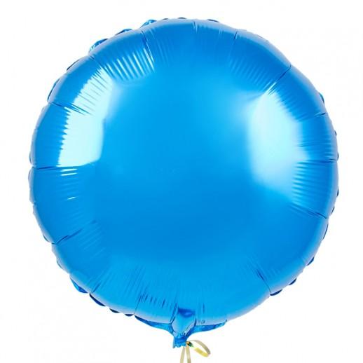 Круг фольгированный, голубой