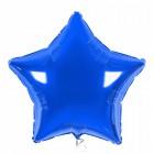 Звезда фольгированная, синяя