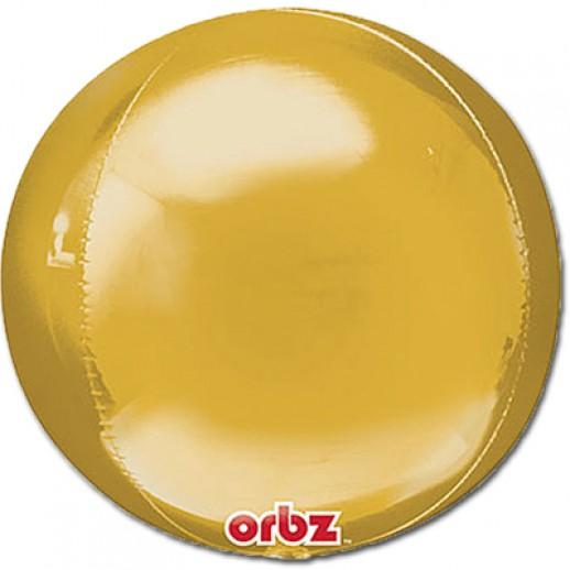 3D Сфера фольгированная, золото
