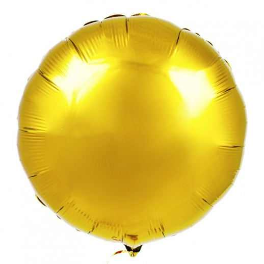 Круг фольгированный, золото