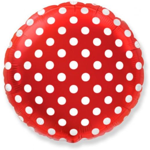 Круг фольгированный красный, Горох