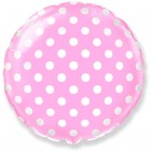 Круг фольгированный розовый, Горох