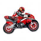 Мотоциклист, фольгированный шар