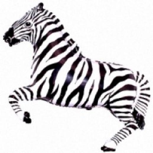 Зебра, фольгированный шар
