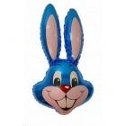 Заяц синий, фольгированный шар
