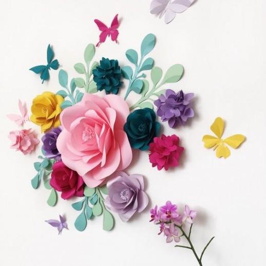 Фотозона из бумажных цветов №14