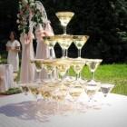 Горка шампанского на 30 персон