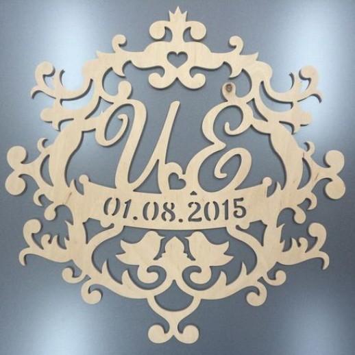 Инициалы на свадьбу № 14