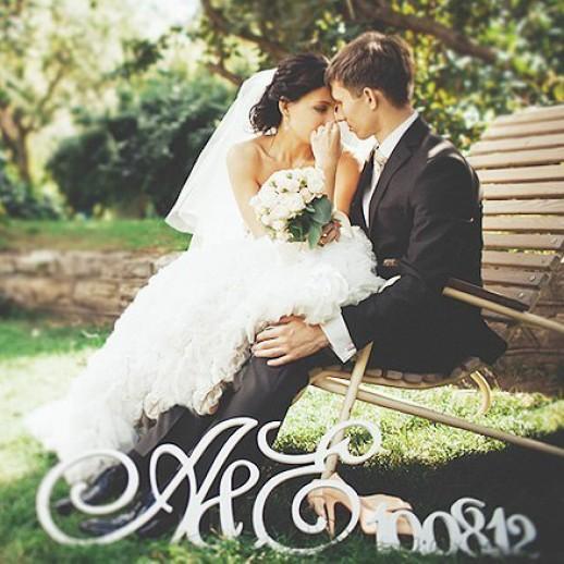 Инициалы на свадьбу № 22