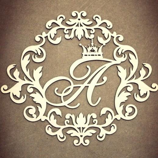 Инициалы на свадьбу № 4