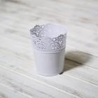 Кашпо белое Икеа, h15 d12 см