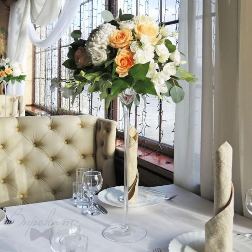 Композиция на столы гостей №14