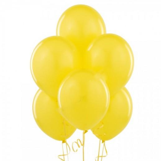 Шары с гелием, 30 см, желтые