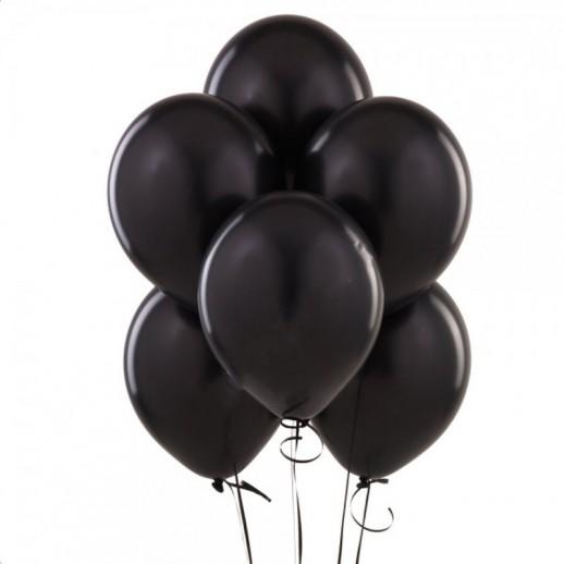 Шары с гелием, 30 см, черные