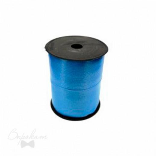 Лента простая 0,5см х 500 м, цвет голубой