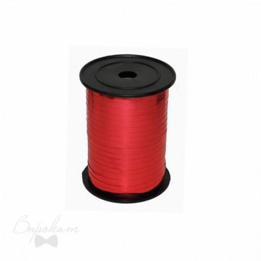 Лента простая 0,5см х 500 м, цвет красный