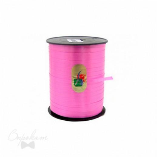 Лента простая 0,5см х 500 м, цвет розовый