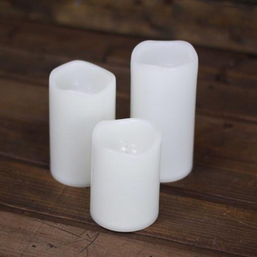 Аренда LED свечи, разноцветные с пультом, белого цвета, h=14,5см