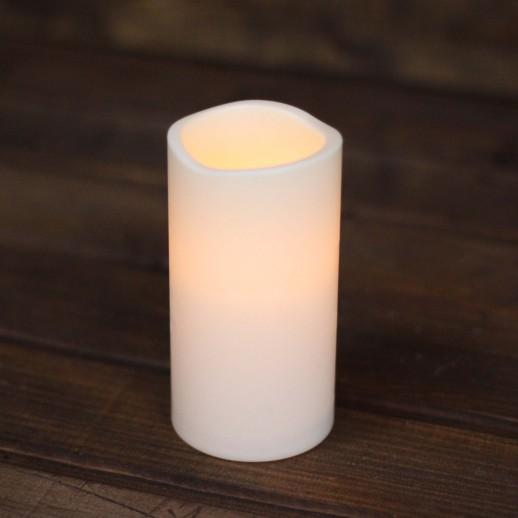 Аренда LED свечи, теплые, молочного цвета, h=16см